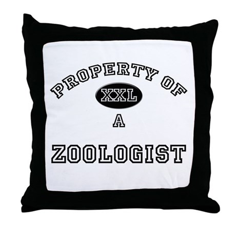 Property of a Zoologist Throw Pillow