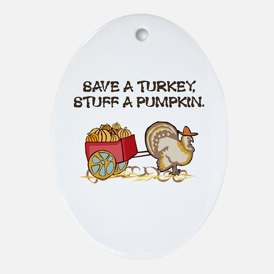 Save a Turkey Oval Ornament