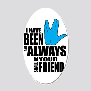 Spock Friend 20x12 Oval Wall Decal