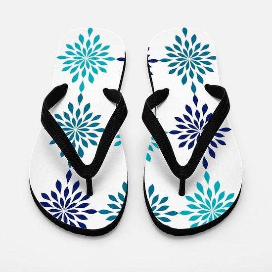 Blue Design Flip Flops