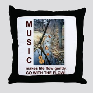 Fiddle Violin Instruments Throw Pillow
