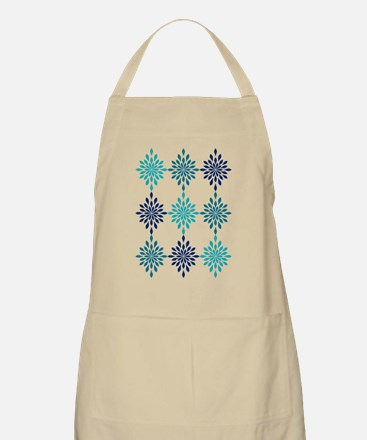 Blue Design Apron