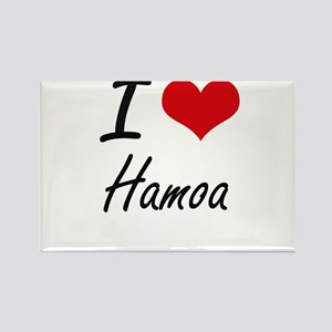 I love Hamoa Hawaii artistic design Magnets