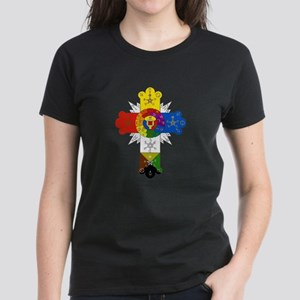 Rose Cross Women's Dark T-Shirt