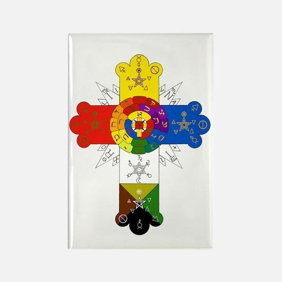 Rose Cross Rectangle Magnet (10 pack)