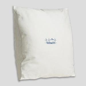 Hickory Hills Ski Area - Tra Burlap Throw Pillow