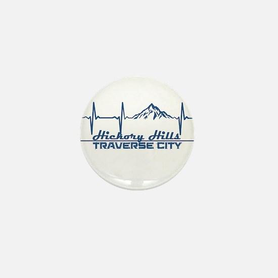 Hickory Hills Ski Area - Traverse Ci Mini Button