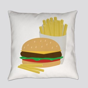 Burger and Fries Everyday Pillow