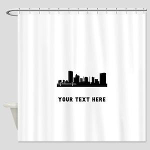 Toledo Cityscape Skyline (Custom) Shower Curtain