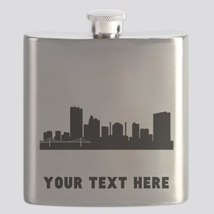 Toledo Cityscape Skyline (Custom) Flask