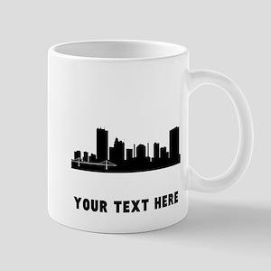 Toledo Cityscape Skyline (Custom) Mugs
