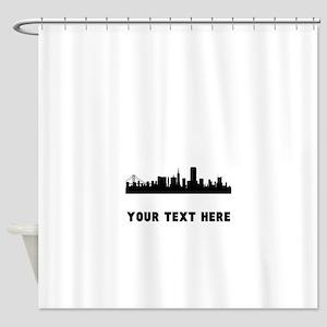 San Francisco Cityscape Skyline (Custom) Shower Cu