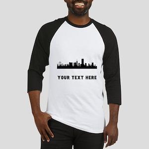 San Francisco Cityscape Skyline (Custom) Baseball