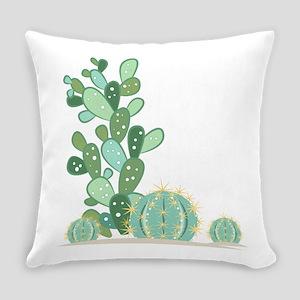 Cactus Plants Everyday Pillow