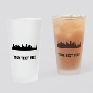 Sacramento Cityscape Skyline (Custom) Drinking Gla