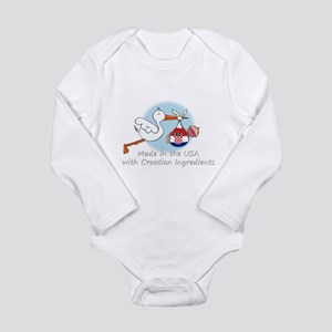 stork baby croatia white 2 Body Suit