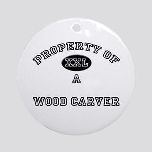 Property of a Wood Carver Ornament (Round)