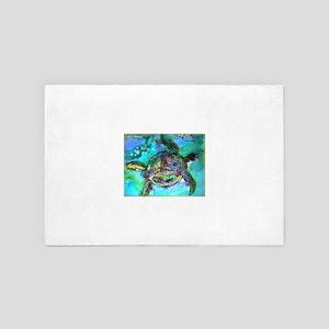 Sea Turtle, Wildlife art! 4' x 6' Rug
