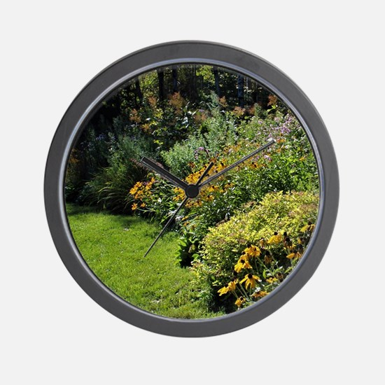 August Perennial Garden Wall Clock
