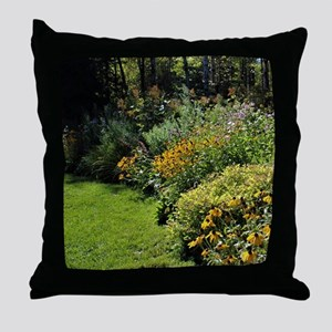 August Perennial Garden Throw Pillow