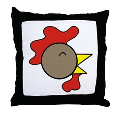Cute Rooster Throw Pillow