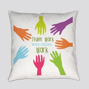 Team Work Everyday Pillow