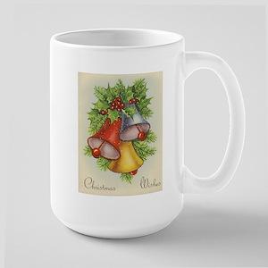 Vintage Christmas Card - Christmas Wishes Mugs