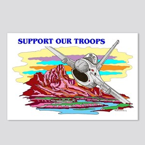 SUPPORT OUR TROOPS F-16 Postcards (Package of 8)