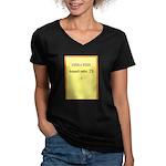 Greeting Card Image 1 Women's V-Neck Dark T-Shirt