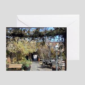 Santa Fe courtyard Greeting Cards (Pk of 10)