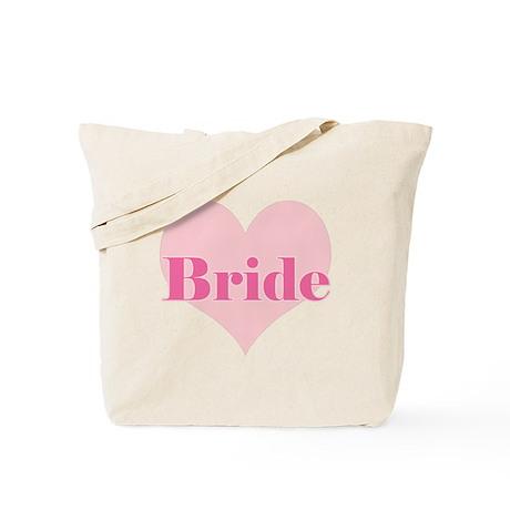Bride pink heart Tote Bag