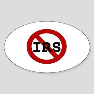 No IRS Oval Sticker