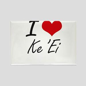 I love Ke'Ei Hawaii artistic design Magnets