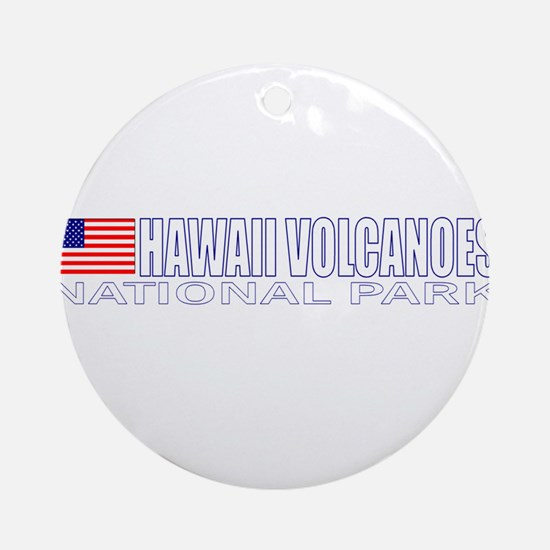 Hawaii Volcanoes National Par Ornament (Round)