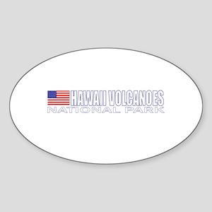 Hawaii Volcanoes National Par Oval Sticker