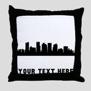 Phoenix Cityscape Skyline (Custom) Throw Pillow