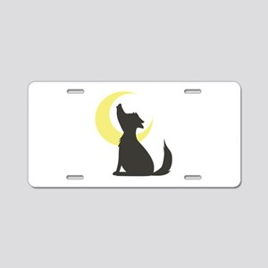 Howl At Moon Aluminum License Plate