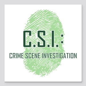 "CSI Square Car Magnet 3"" x 3"""