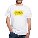 Black Cap Image 3 White T-Shirt