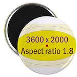 "Black Cap Image 3 2.25"" Magnet (100 pack)"