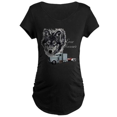 Lone Runner Maternity Dark T-Shirt