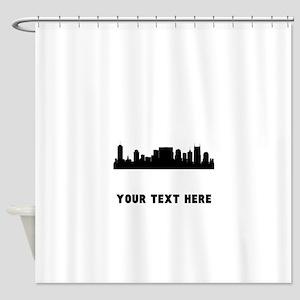 Nashville Cityscape Skyline (Custom) Shower Curtai