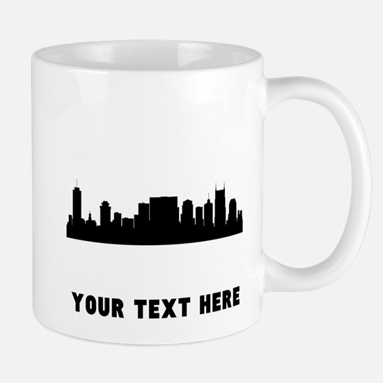 Nashville Cityscape Skyline (Custom) Mugs