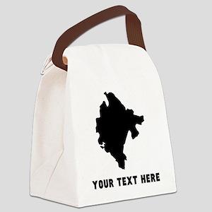 Montenegro Silhouette (Custom) Canvas Lunch Bag