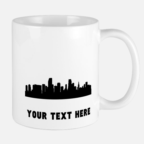 Miami Cityscape Skyline (Custom) Mugs
