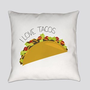 Love Tacos Everyday Pillow