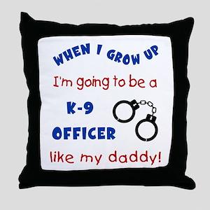K9 Like Daddy Throw Pillow