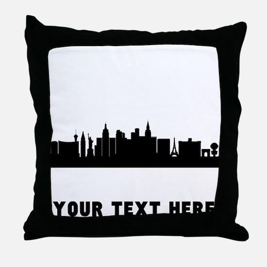 Las Vegas Cityscape Skyline (Custom) Throw Pillow