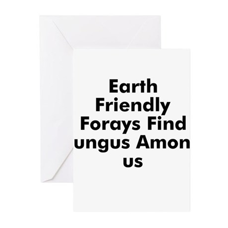 Earth Friendly Forays Find Fu Greeting Cards (Pk o