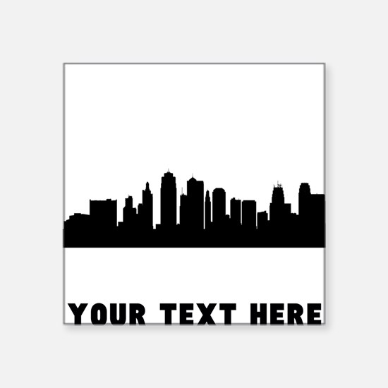 Kansas City Skyline Stickers CafePress - Custom vinyl decals kansas city